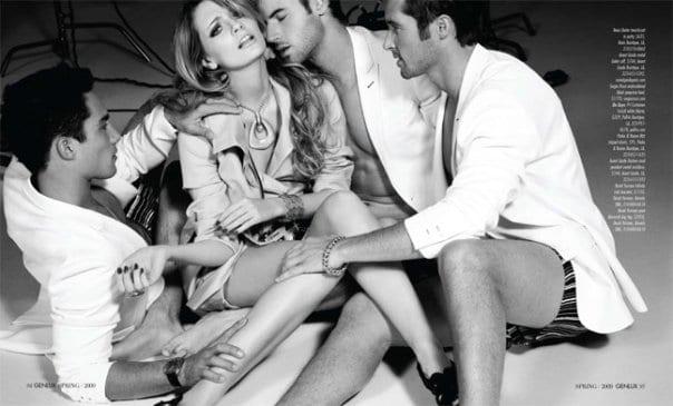 фото 3 девушки и мужик
