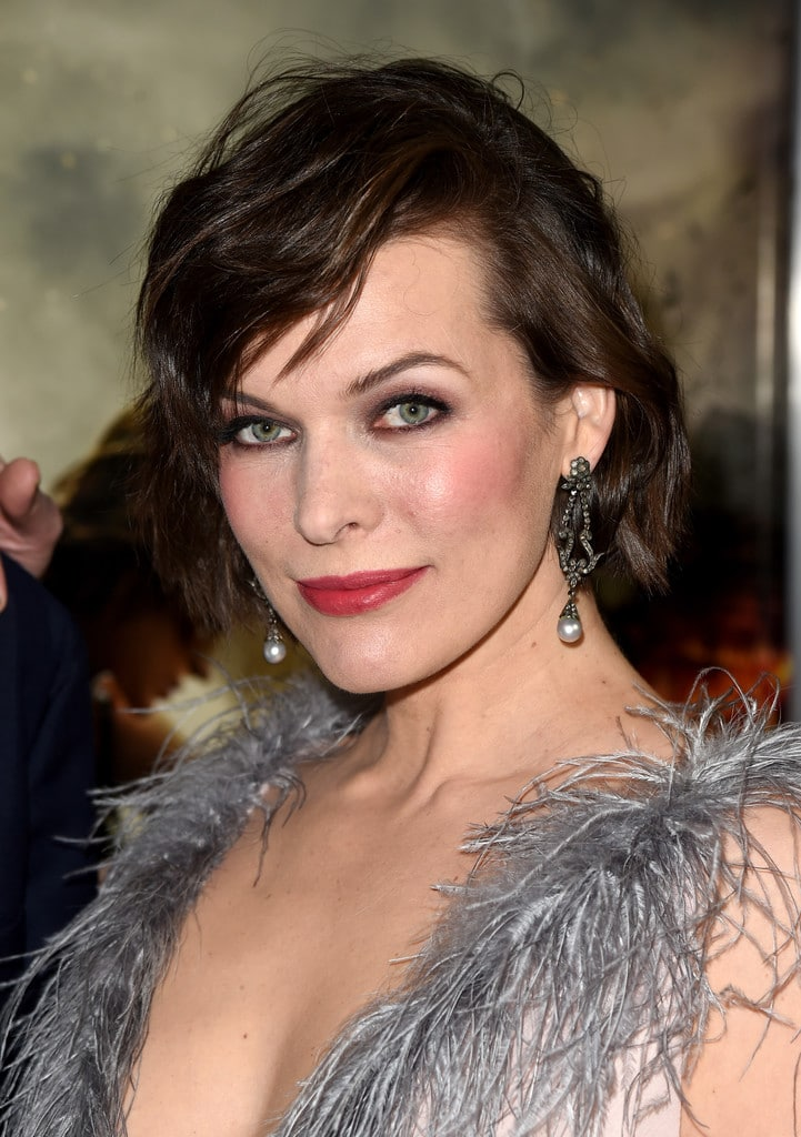 Milla Jovovich at Three Musketeers in 3D Premiere in