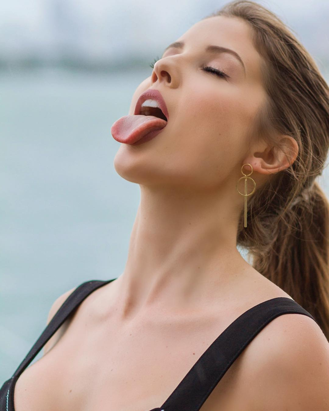 Share Girl naked sticking tongue out remarkable