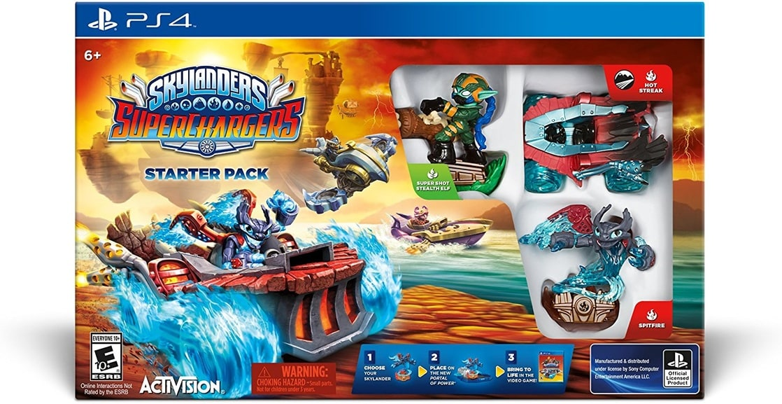 Skylanders SuperChargers Starter Kit - PlayStation 4 Dark Edition