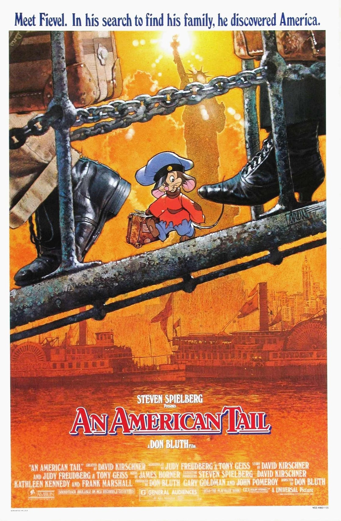 an american tail movie project An american tail tells the story of fievel (or feivel) mousekewitz,  the movie spawned a sequel, fievel goes west, a project that bluth was.