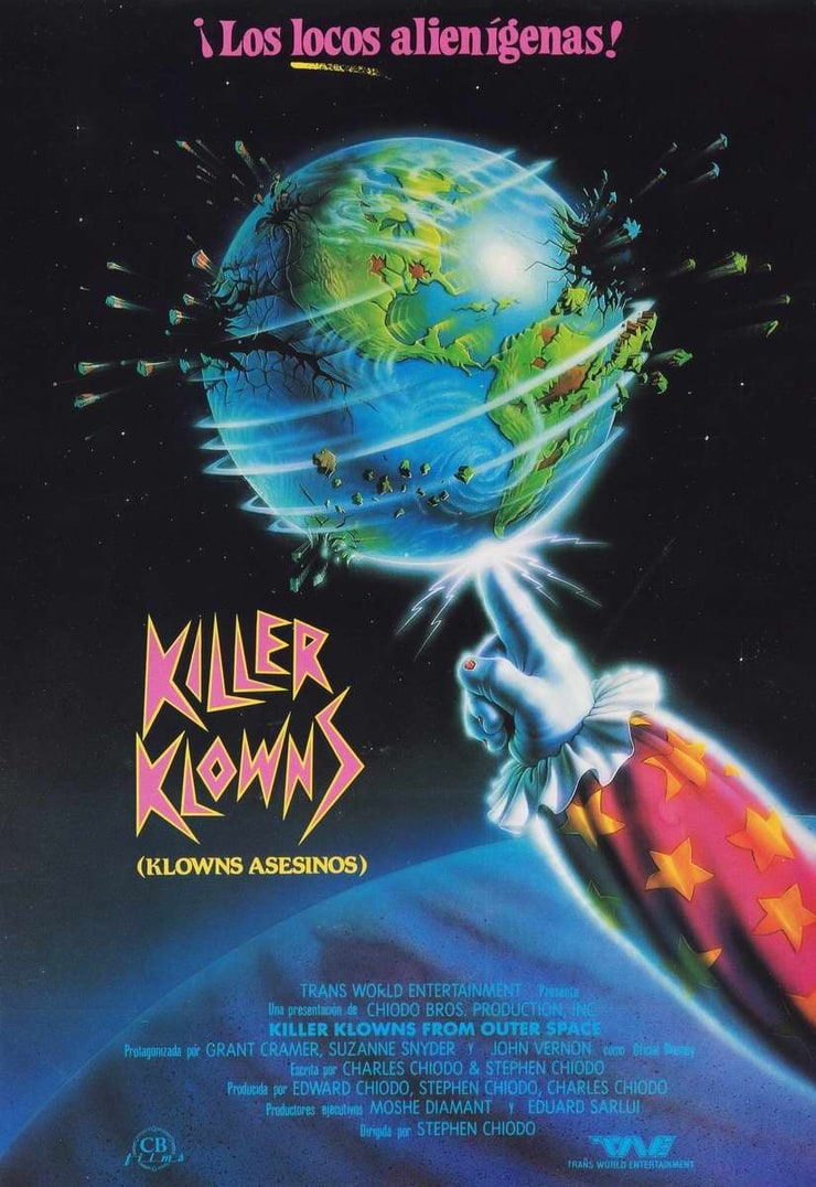 Picture of killer klowns from outer space for Outer space poster design