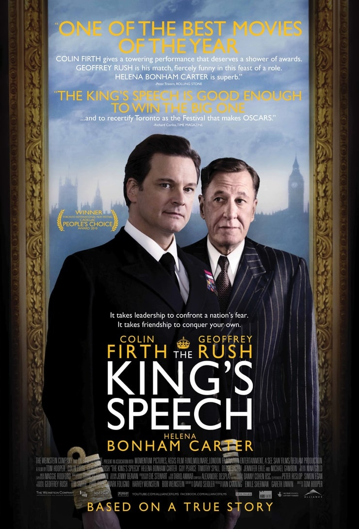 the kings speech The king's speech is based on the diaries and notes of a speech therapist who helped king george vi overcome speech difficulties after his ascent to the throne it.