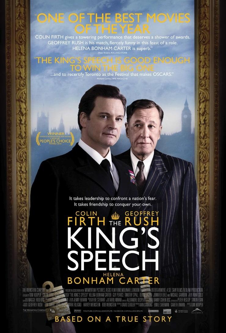 том, как рецензия к фильму король говорит особенно заметно при