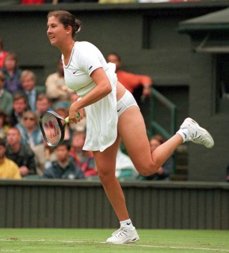 Monica seles upskirt tennis action cameltoe