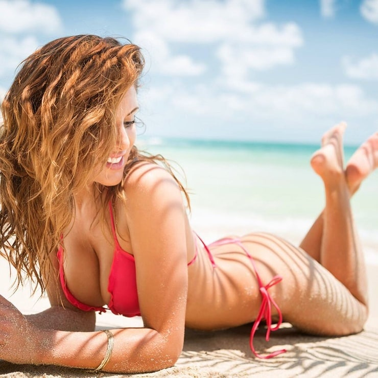 Lonely beautiful sexy girl surfers paradise stock photo