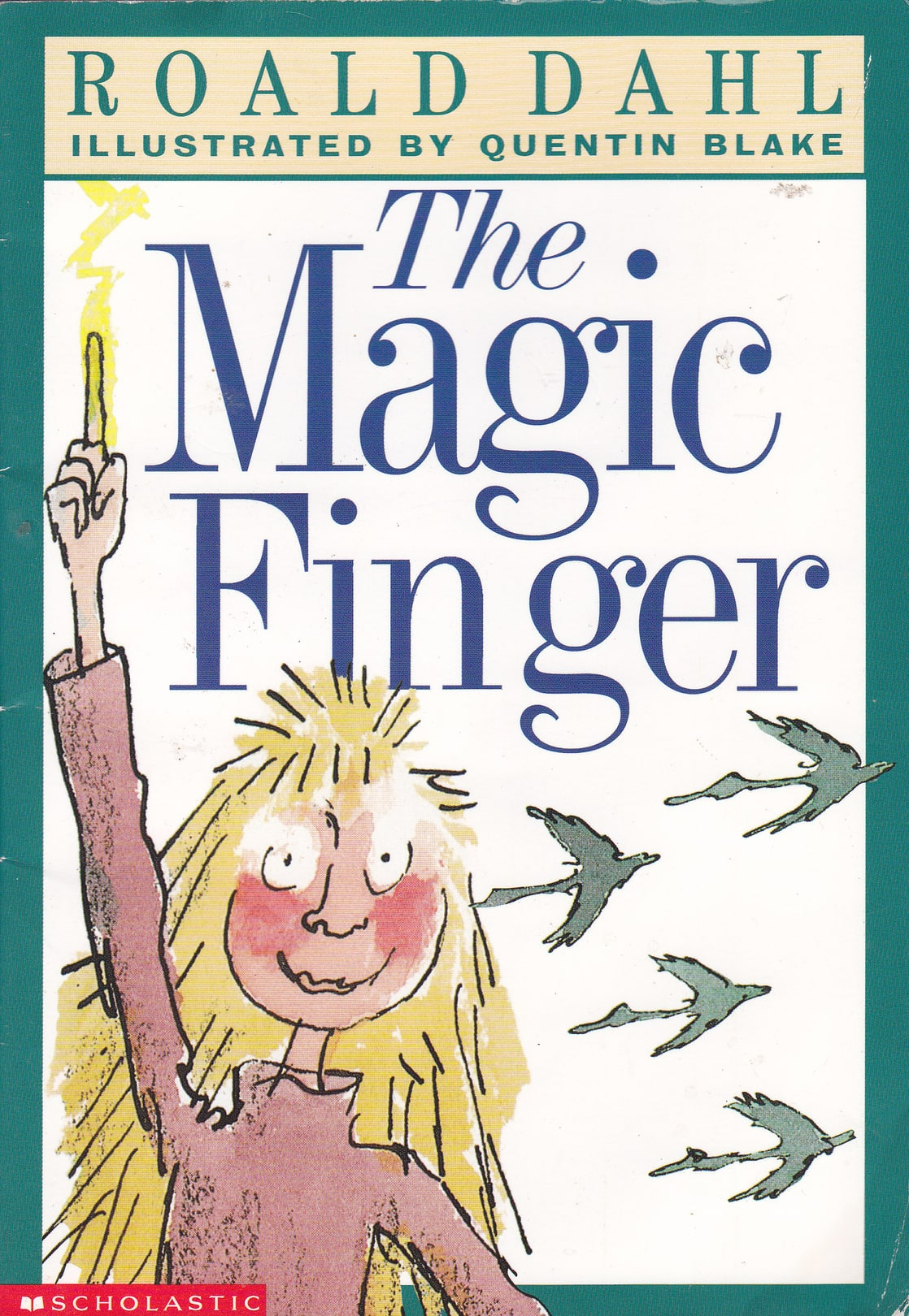 Picture of the magic finger for Roald dahl book review template