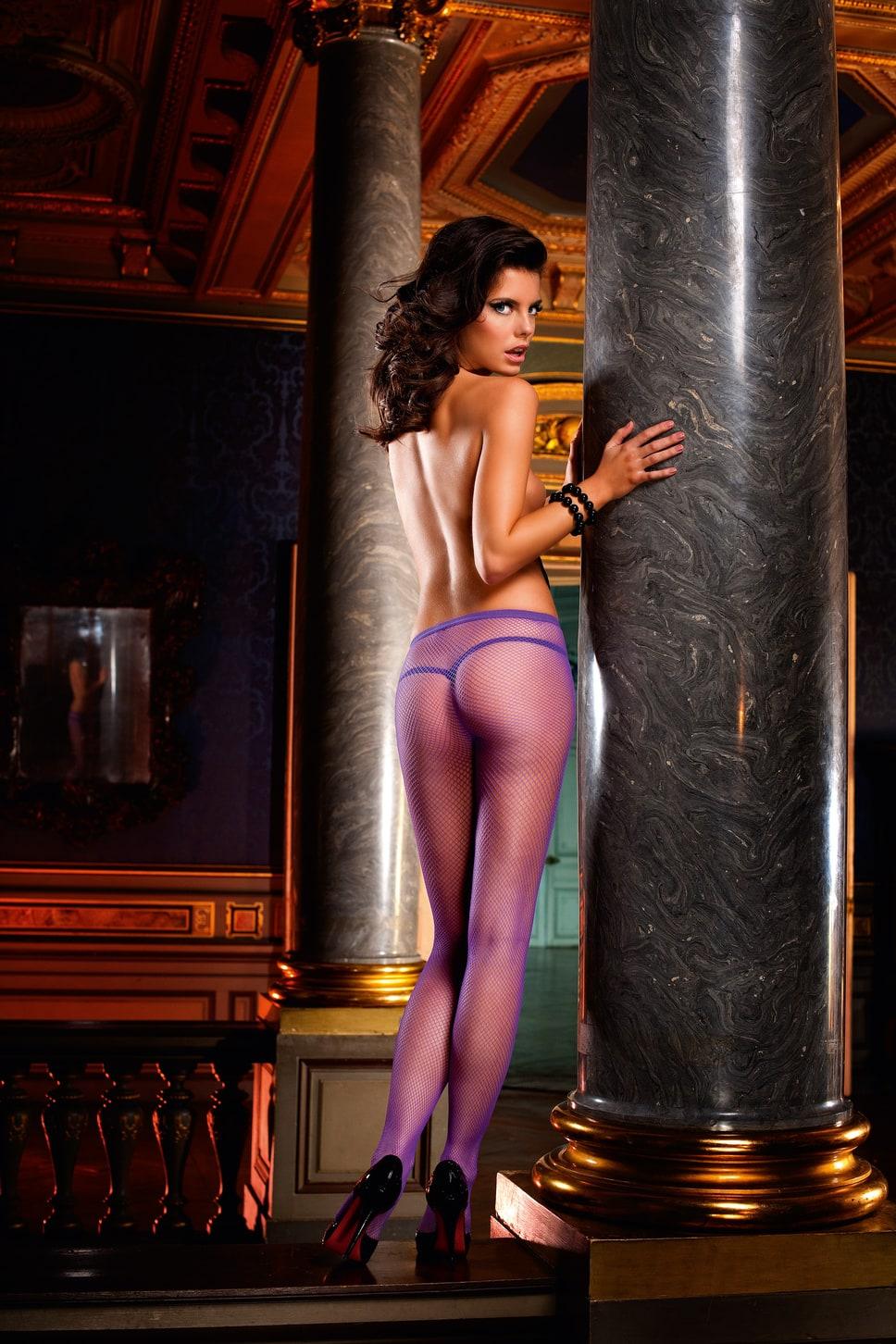 Фиолетовые колготки порно 12 фотография