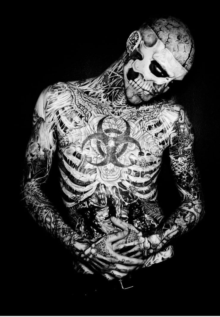 Picture of rick genest for Full body tattoo porn