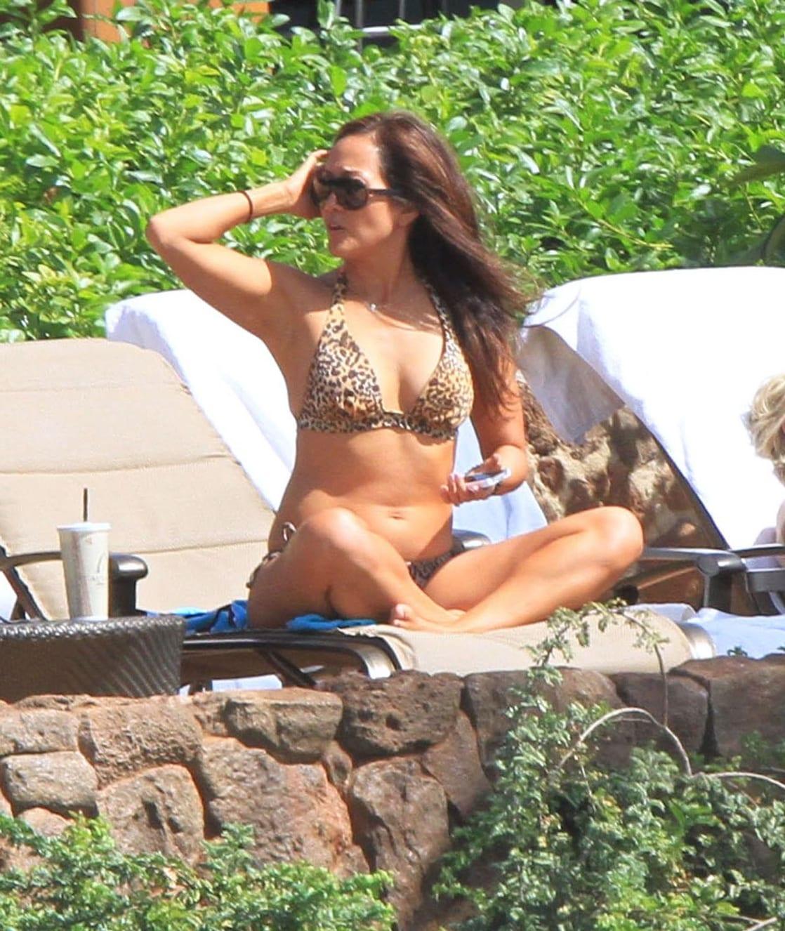 Carrie ann inaba bikini for