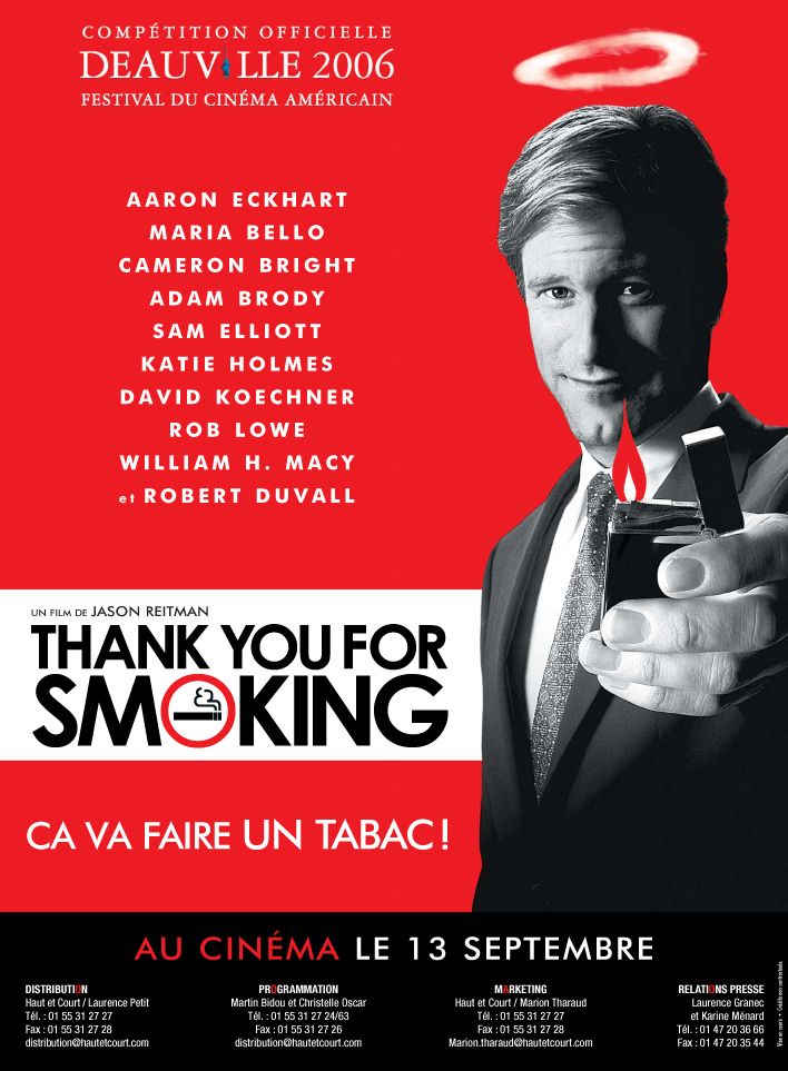 review on thank you for smoking Thank you for smoking (2005) on imdb: movies, tv, celebs, and more  every  reviewer opines that this will be aaron eckhart's break-out role with his.