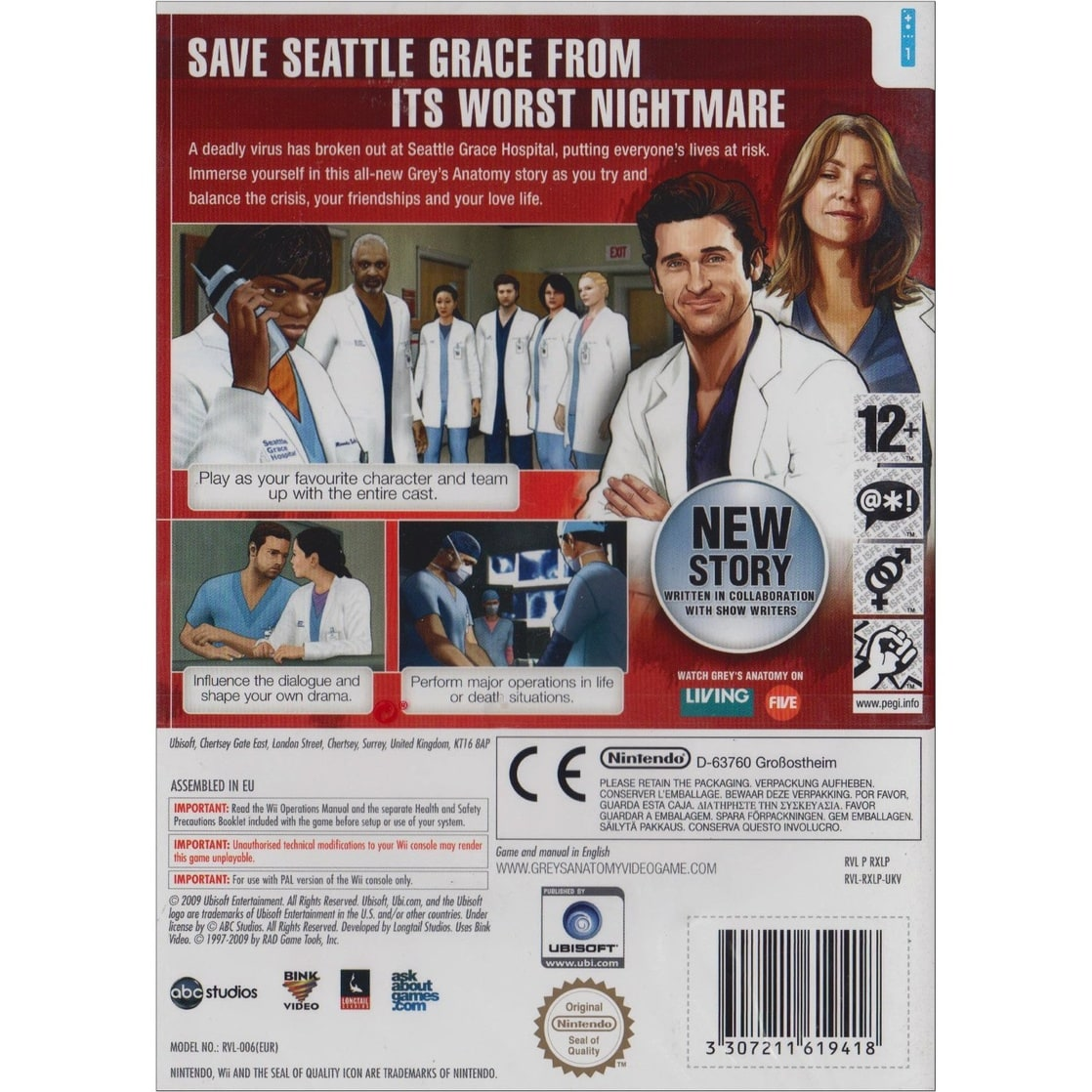 Picture Of Greys Anatomy The Video Game Wii