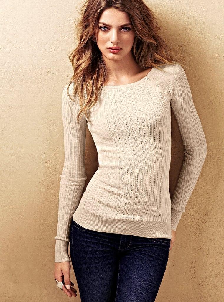 Тонкий вязанный свитер