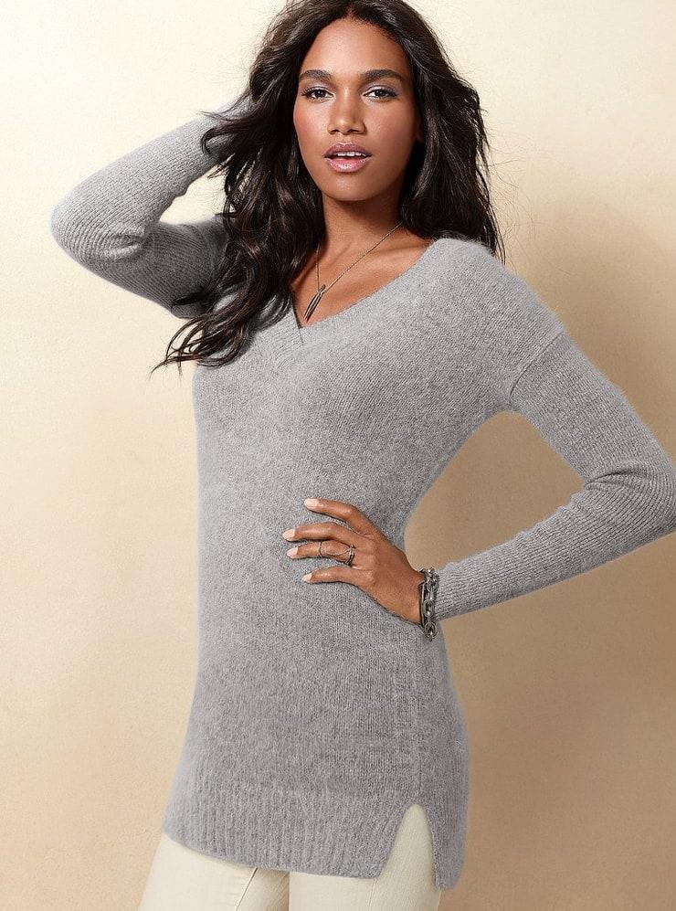Вязанный свитер с ангоры