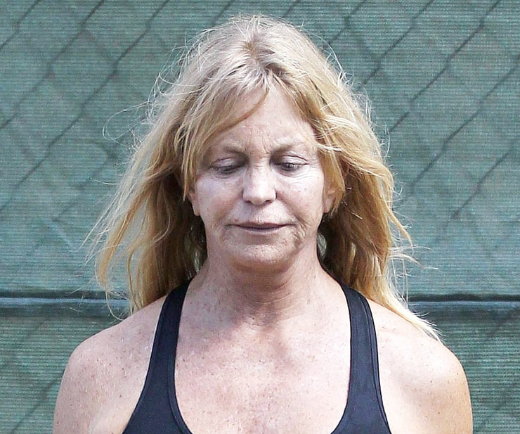Goldie hawn fakes message, simply