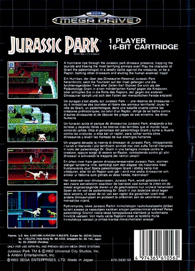 Jurrasic park book report