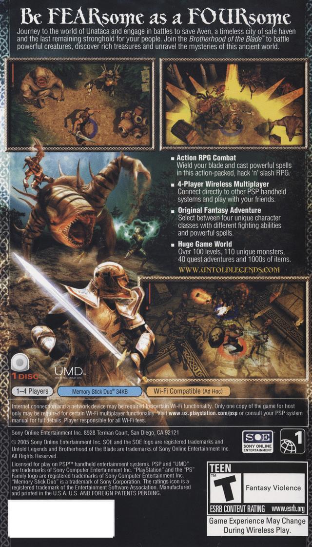 Untold Legends Brotherhood Of The Blade Коды