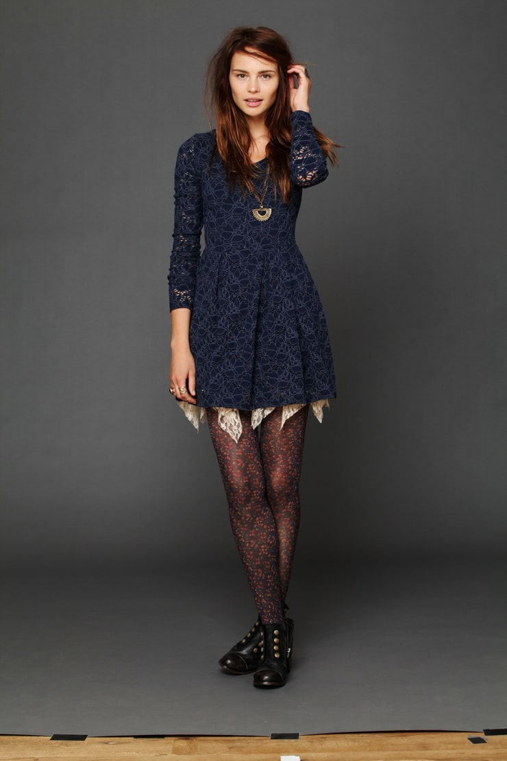 Formal Dress With Tights Picture of Anastasia K...