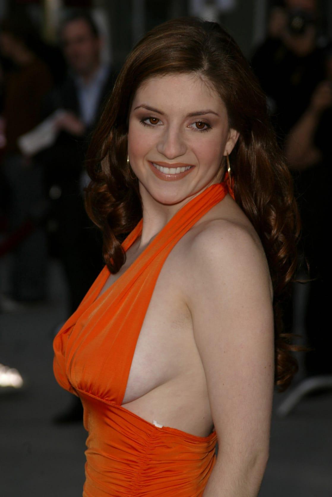 Anneliese van der pol side boob