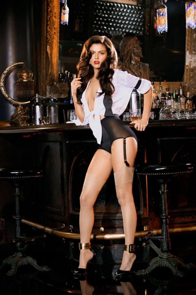 sexy playmate high heels on bar