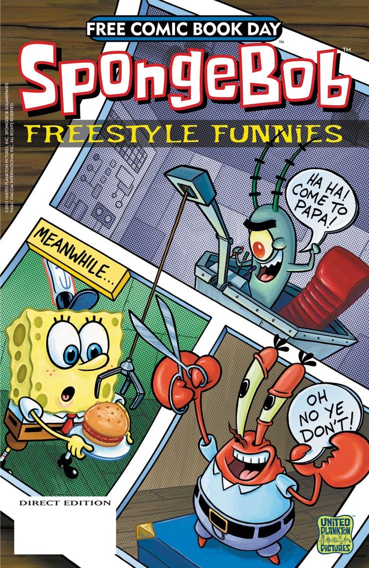 picture of spongebob freestyle funnies free comic book day 2013