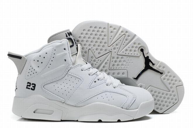 all white jordan retro 6