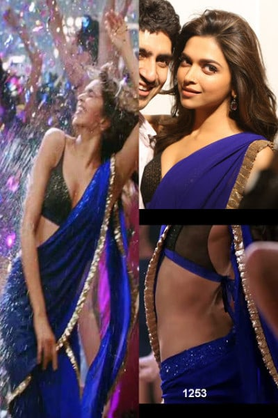 Picture of Deepika Padukone's Royal Blue Saree in Yeh ...