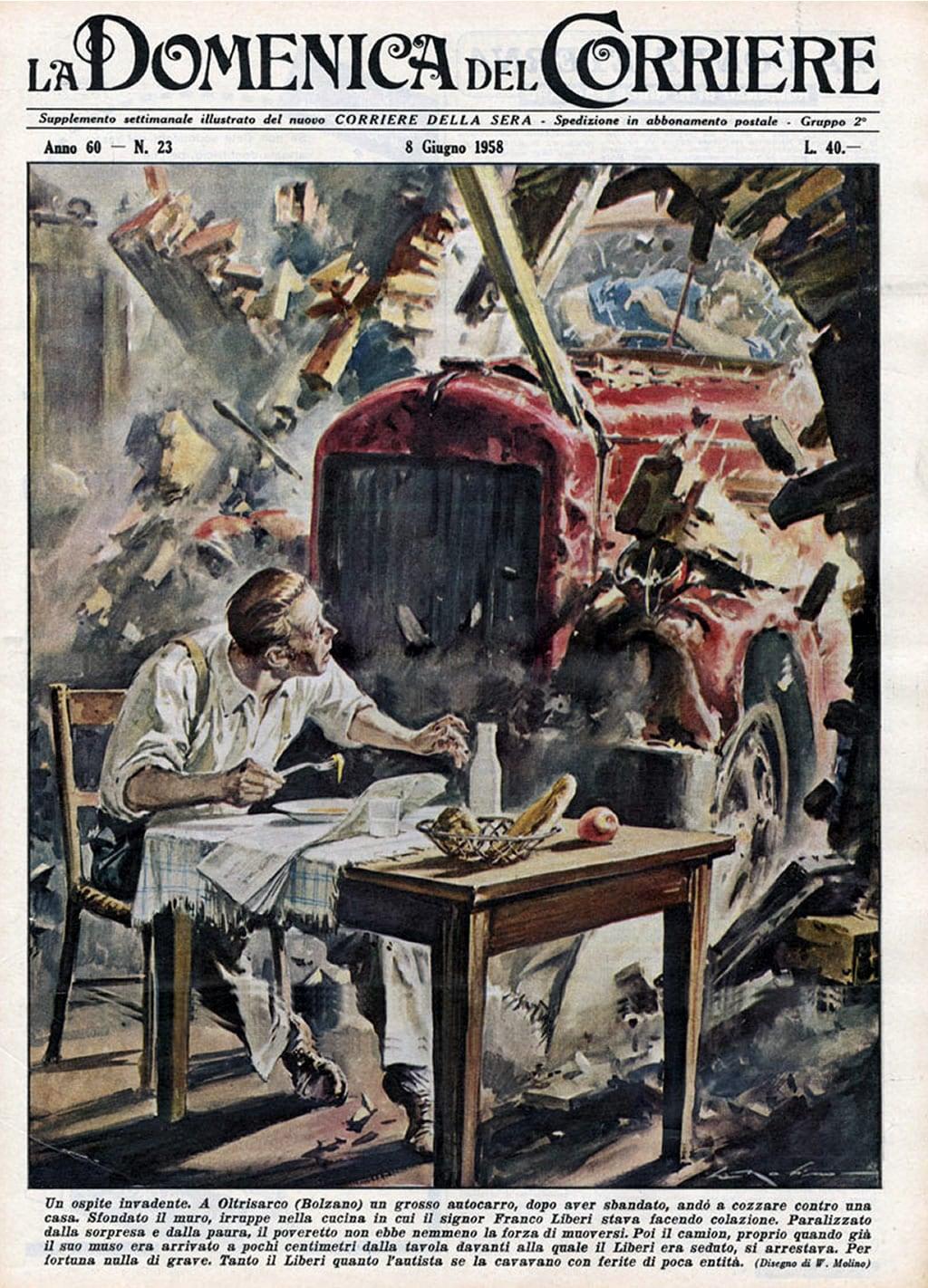 Disegno la cucina del corriere : Picture of La Domenica del Corriere