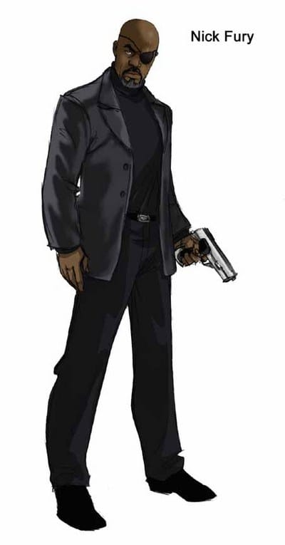 Free Nick Fury From Avengers Coloring Pages: Picture Of Nick Fury (Avengers