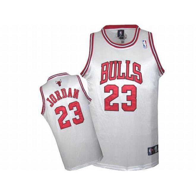 Michael Jordan White Bulls Jersey Michael Jordan 23 Nba Bulls