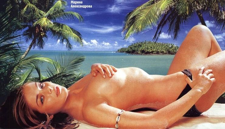 голые фото марины александровой