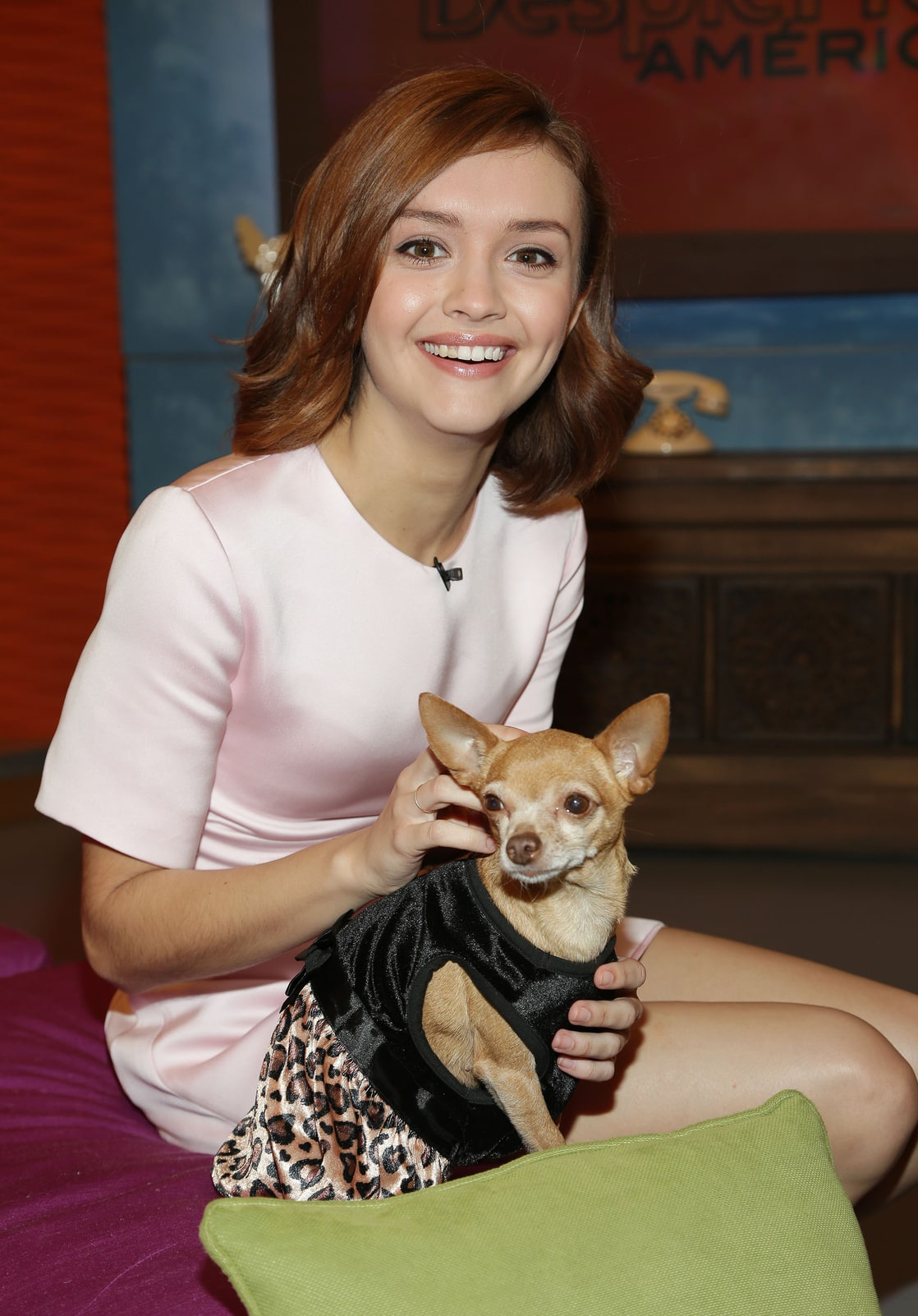 Photo of Olivia Cooke & her Dog