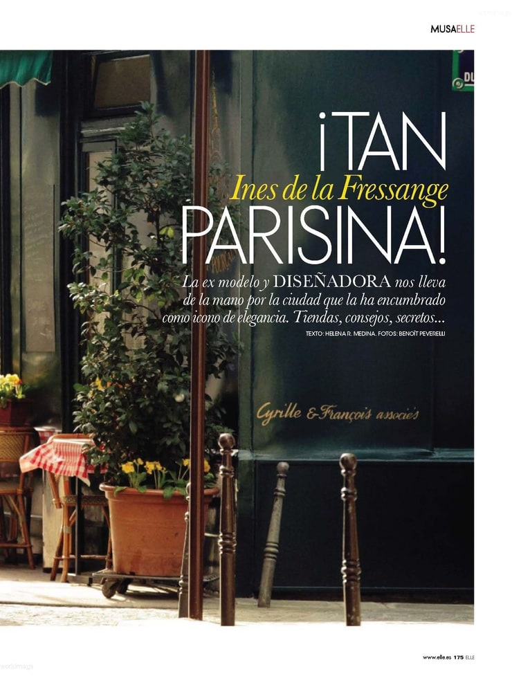 ines de la fressange book elle spain may 2011. Black Bedroom Furniture Sets. Home Design Ideas