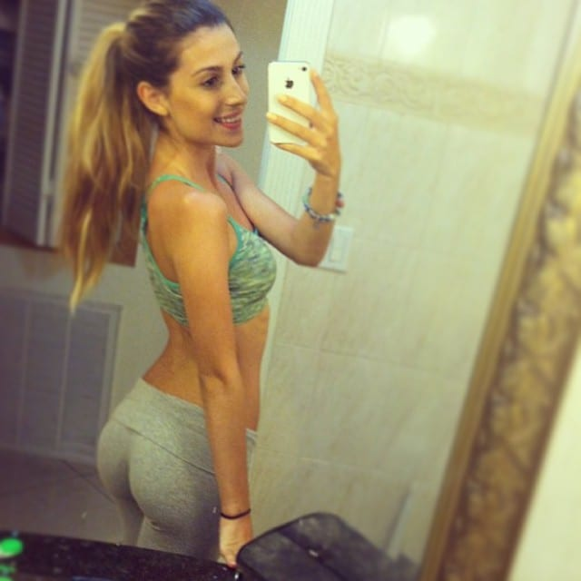 Brittany Suleiman showing her body in a selfie