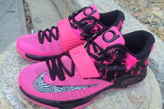 Pink And Black Kd Sneakers  16e54bdb9