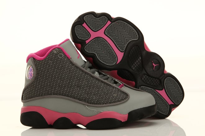 Picture of Nike Jordan 13 in Cool Grey - Pink color Kids ...