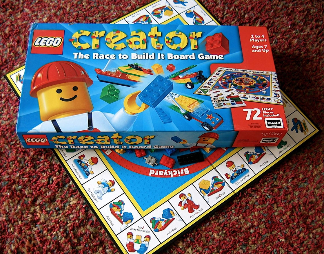 Picture Of Lego Creator The Race To Build It Board Game Lego Games
