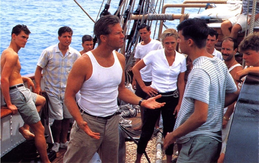 a review of the movie the white squall 'white squall, based on a real-life 1960 incident near bermuda, is the story of a sailing prep school whose greenhorn crew of teenagers undertakes a long ocean voyage.