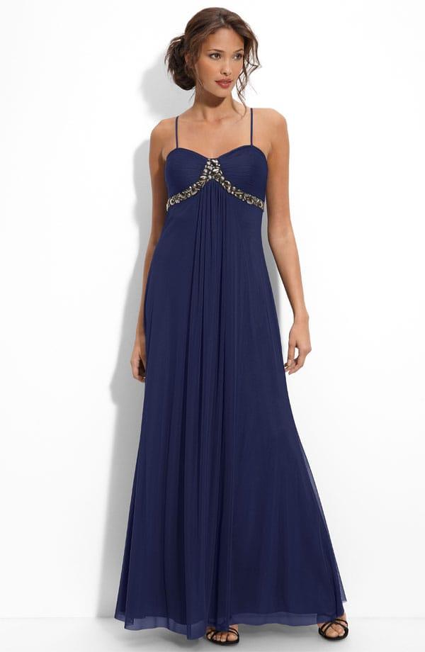 Платье длинное с завышенной талией