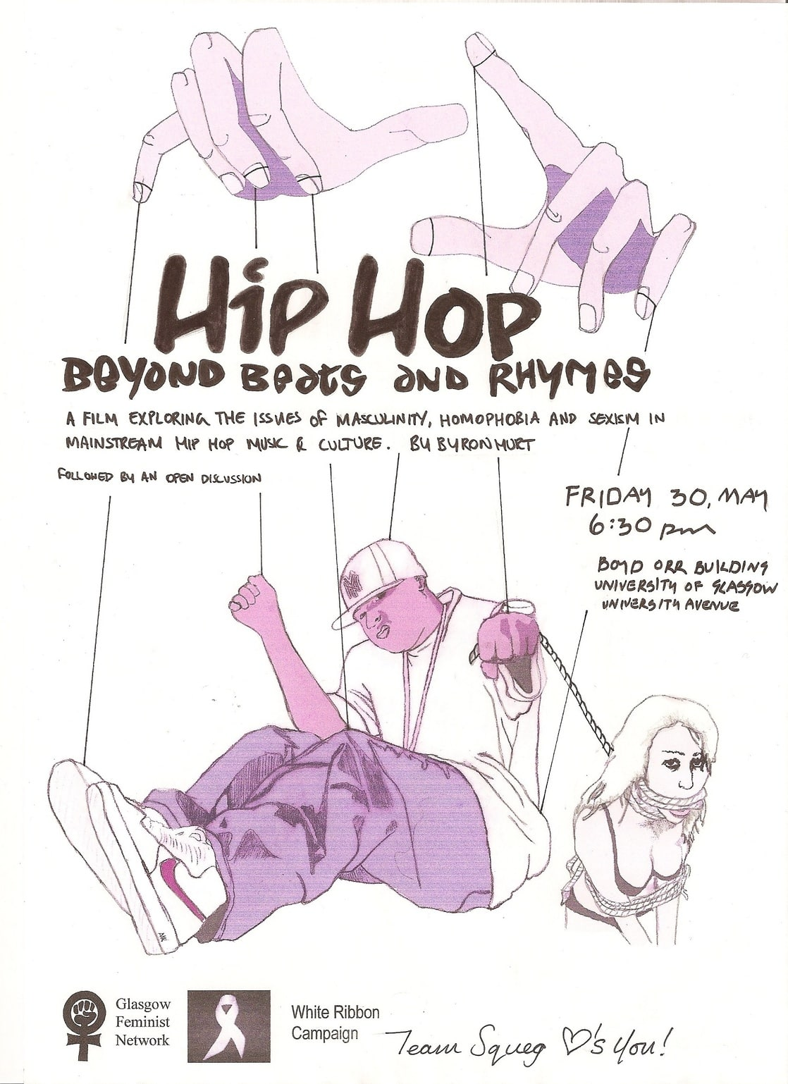 beyond beats and rhymes Byron hurt takes on a daring task in the course of his 56-minute documentary: deconstructing sexism, violence and masculinity in hip-hop hurt goes well beyond the scope of most hip-hop .