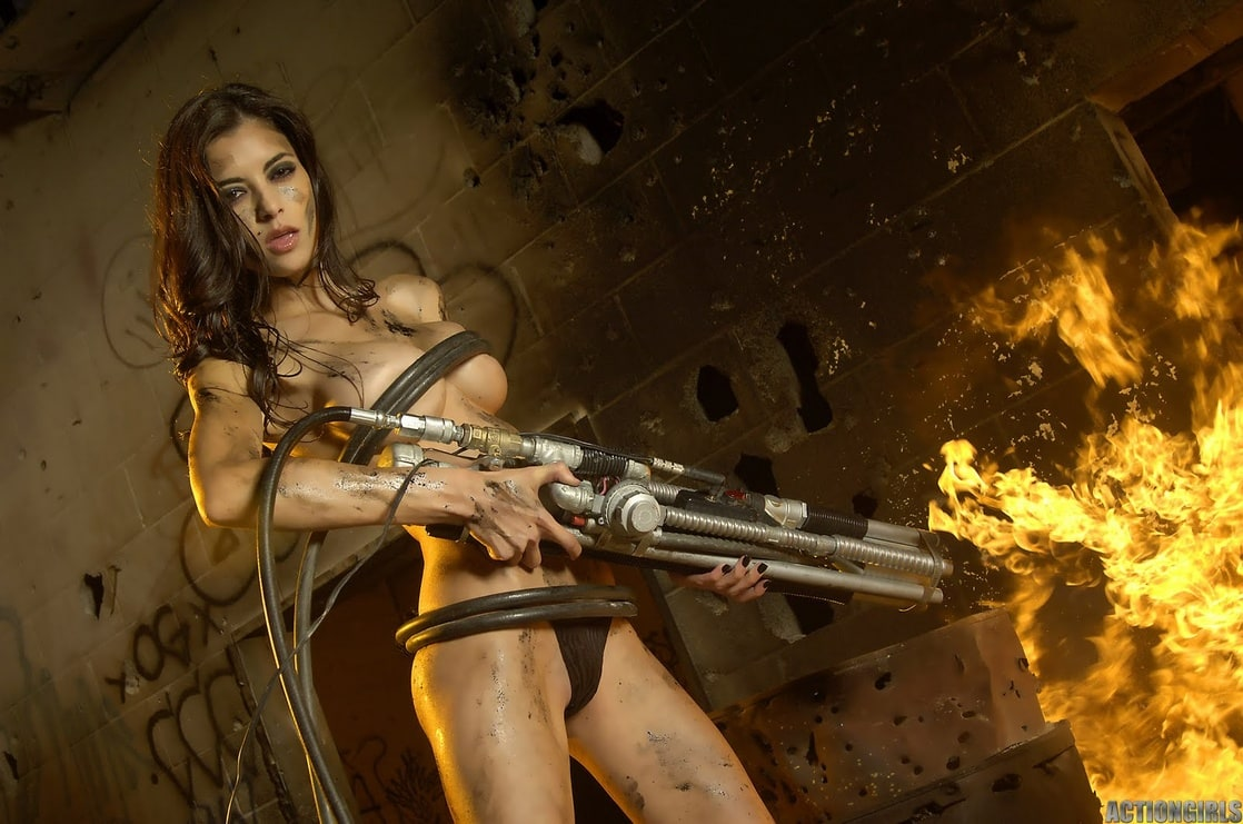 Naked girls with guns pictures porn clips
